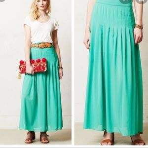 Anthropologie Maeve Zocalo sheer maxi skirt